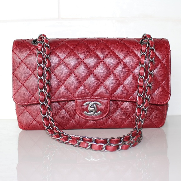 8c0c46fca059 Chanel Bags | Red Classic Flap Medium Bag | Poshmark